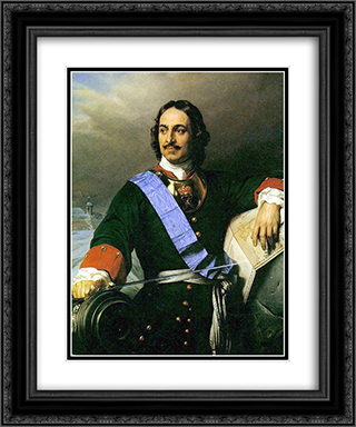 Peter the Great 20x24 Black or Gold Ornate Framed and Double Matted Art Print by Paul Delaroche