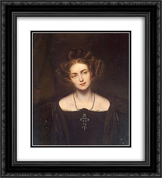 Portrait of Henrietta Sontag 20x22 Black or Gold Ornate Framed and Double Matted Art Print by Paul Delaroche