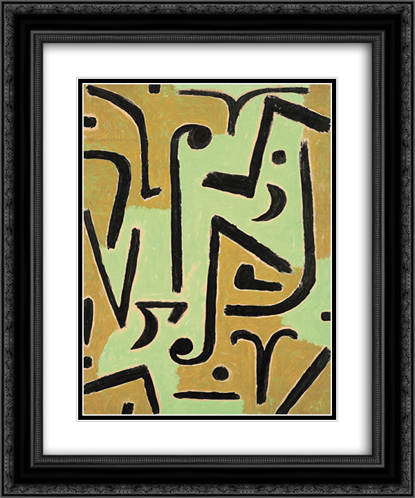 Halme  20x24 Black or Gold Ornate Framed and Double Matted Art Print by Paul Klee
