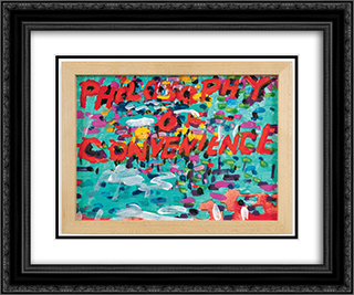 Philosophy of Convenience 24x20 Black or Gold Ornate Framed and Double Matted Art Print by Paul Thek
