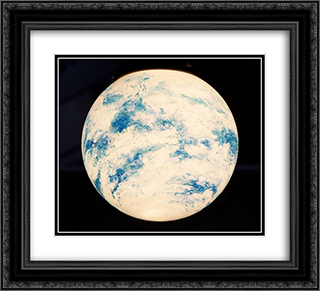 Untitled (Globe) 22x20 Black or Gold Ornate Framed and Double Matted Art Print by Paul Thek
