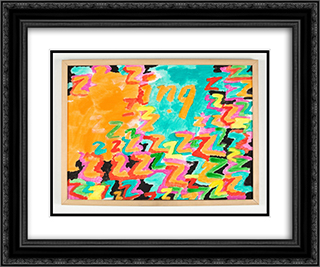 Untitled (z - ing) 24x20 Black or Gold Ornate Framed and Double Matted Art Print by Paul Thek
