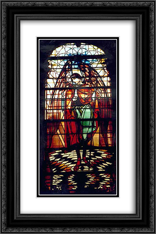 Archangel Gabriel (Church of the Assumption of the Blessed Virgin Mary 16x24 Black or Gold Ornate Framed and Double Matted Art Print by Petro Kholodny (Elder)