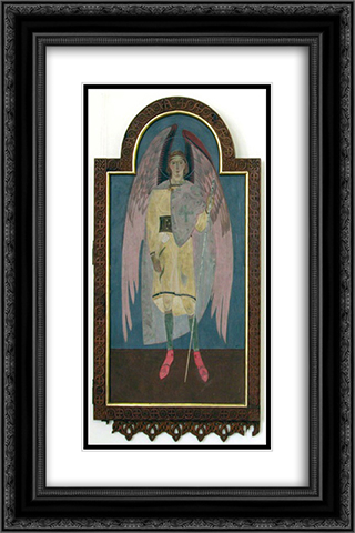 Icon of Archangel Gabriel 16x24 Black or Gold Ornate Framed and Double Matted Art Print by Petro Kholodny (Elder)