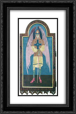 Icon of Archangel Michael 16x24 Black or Gold Ornate Framed and Double Matted Art Print by Petro Kholodny (Elder)