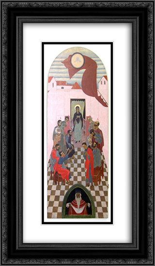 Icon The Descent of the Holy Spirit 14x24 Black or Gold Ornate Framed and Double Matted Art Print by Petro Kholodny (Elder)