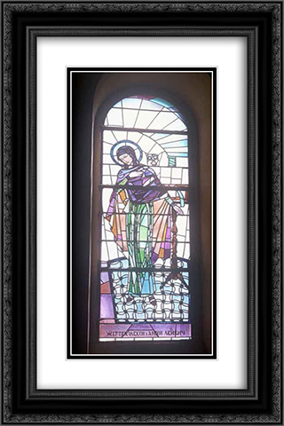 Virgin 16x24 Black or Gold Ornate Framed and Double Matted Art Print by Petro Kholodny (Elder)