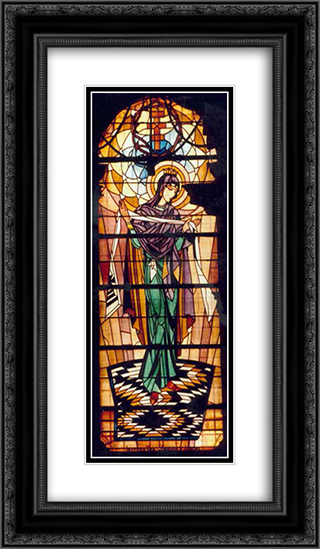 Virgin (Church of the Assumption of the Blessed Virgin Mary) 14x24 Black or Gold Ornate Framed and Double Matted Art Print by Petro Kholodny (Elder)