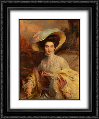 Crown Princess Cecilie of Prussia 20x24 Black or Gold Ornate Framed and Double Matted Art Print by Philip de Laszlo