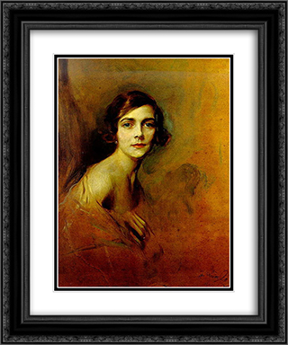 Edwina Mountbatten, Countess Mountbatten of Burma 20x24 Black or Gold Ornate Framed and Double Matted Art Print by Philip de Laszlo