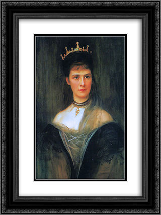 Empress Elisabeth of Austria 18x24 Black or Gold Ornate Framed and Double Matted Art Print by Philip de Laszlo