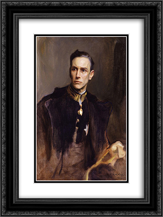 John Loader Maffey, 1st Baron Rugby 18x24 Black or Gold Ornate Framed and Double Matted Art Print by Philip de Laszlo