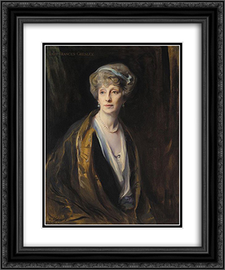 Lady Frances Gresley 20x24 Black or Gold Ornate Framed and Double Matted Art Print by Philip de Laszlo