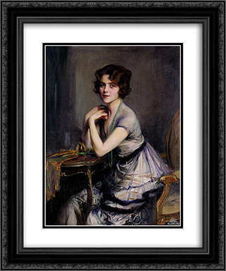 Portrait of a Lady 20x24 Black or Gold Ornate Framed and Double Matted Art Print by Philip de Laszlo