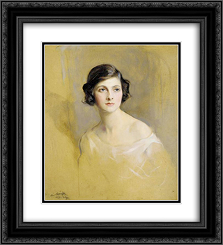 Portrait of Lady Rachel Cavendish 20x22 Black or Gold Ornate Framed and Double Matted Art Print by Philip de Laszlo