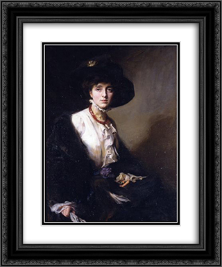 Portrait of Vita Sackville-West 20x24 Black or Gold Ornate Framed and Double Matted Art Print by Philip de Laszlo