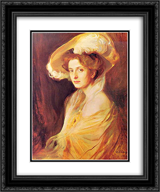 Princess Louise Mountbatten 20x24 Black or Gold Ornate Framed and Double Matted Art Print by Philip de Laszlo