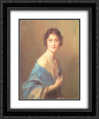 The Duchess of York 20x24 Black or Gold Ornate Framed and Double Matted Art Print by Philip de Laszlo