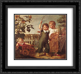 Die Hulsenbeckschen Kinder 22x20 Black or Gold Ornate Framed and Double Matted Art Print by Philipp Otto Runge