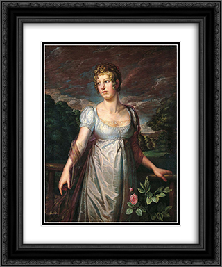 Portrait of Wilhelmina Sophia Helwig 20x24 Black or Gold Ornate Framed and Double Matted Art Print by Philipp Otto Runge