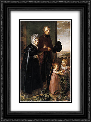 The Artist's Parents 18x24 Black or Gold Ornate Framed and Double Matted Art Print by Philipp Otto Runge