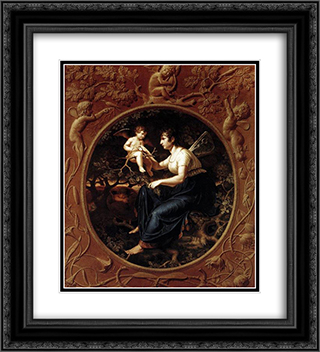 The Lesson of the Nightingale 20x22 Black or Gold Ornate Framed and Double Matted Art Print by Philipp Otto Runge
