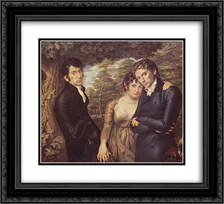 Wir drei 22x20 Black or Gold Ornate Framed and Double Matted Art Print by Philipp Otto Runge