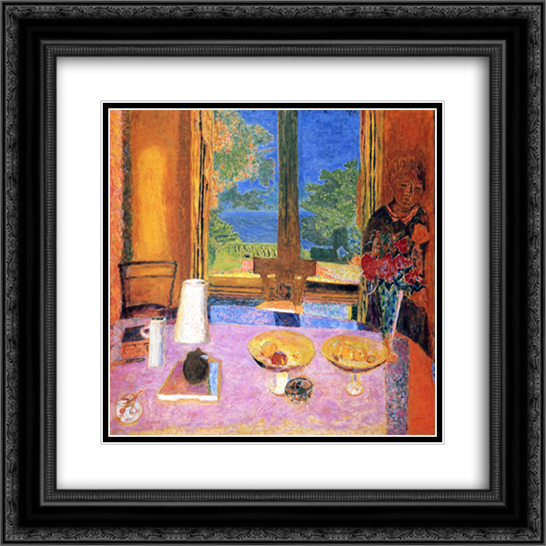 Dining Room on the Garden 20x20 Black or Gold Ornate Framed and Double Matted Art Print by Pierre Bonnard