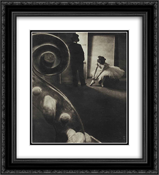 Behind the Scenes 20x22 Black or Gold Ornate Framed and Double Matted Art Print by Pierre Dubreuil