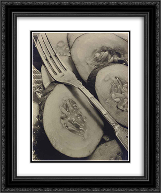 Cucumbers (Concombres) 20x24 Black or Gold Ornate Framed and Double Matted Art Print by Pierre Dubreuil