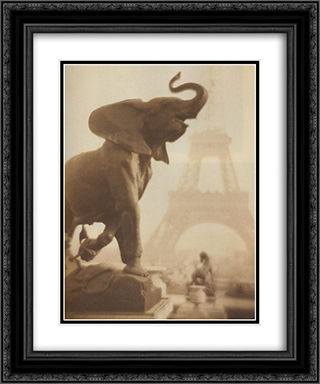 Elephantasy 20x24 Black or Gold Ornate Framed and Double Matted Art Print by Pierre Dubreuil