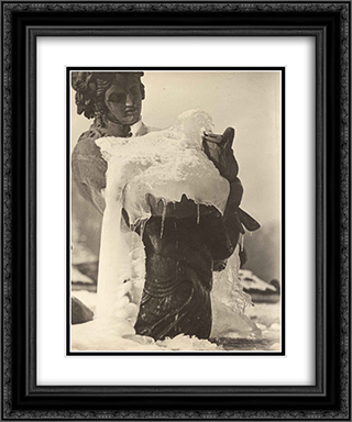 Frozen Fountain 20x24 Black or Gold Ornate Framed and Double Matted Art Print by Pierre Dubreuil
