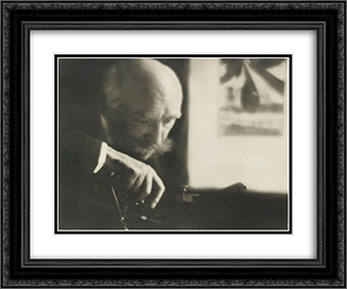 Self-portrait of Dubreuil 24x20 Black or Gold Ornate Framed and Double Matted Art Print by Pierre Dubreuil