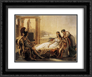 Aeneas tells Dido the misfortunes of the Trojan city 24x20 Black or Gold Ornate Framed and Double Matted Art Print by Pierre Narcisse Guerin
