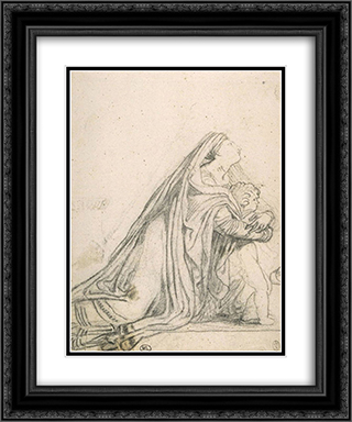 Andromache and Astyanax 20x24 Black or Gold Ornate Framed and Double Matted Art Print by Pierre Narcisse Guerin