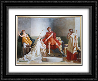 Andromache and Pyrrhus 24x20 Black or Gold Ornate Framed and Double Matted Art Print by Pierre Narcisse Guerin