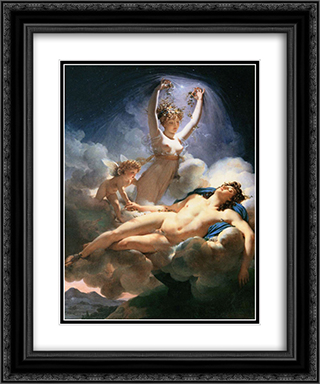 Aurora and Cephalus 20x24 Black or Gold Ornate Framed and Double Matted Art Print by Pierre Narcisse Guerin