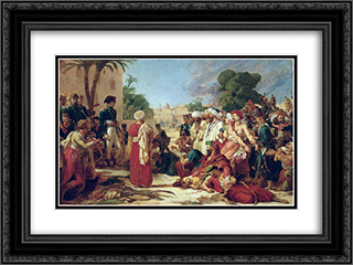 Bonaparte in Cairo 24x18 Black or Gold Ornate Framed and Double Matted Art Print by Pierre Narcisse Guerin