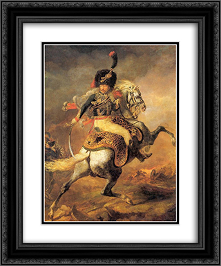 Carle Vernet and classical figure composition 20x24 Black or Gold Ornate Framed and Double Matted Art Print by Pierre Narcisse Guerin