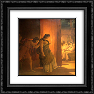 Clytemnestra 20x20 Black or Gold Ornate Framed and Double Matted Art Print by Pierre Narcisse Guerin