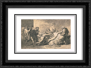 Death of Cato of Utica 24x18 Black or Gold Ornate Framed and Double Matted Art Print by Pierre Narcisse Guerin
