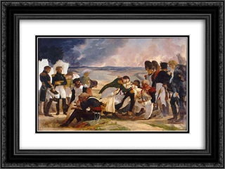 Death of Marshal Lannes, Duke of Montebello 24x18 Black or Gold Ornate Framed and Double Matted Art Print by Pierre Narcisse Guerin