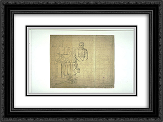Partial study of the composition of the Return of Marcus Sextus 24x18 Black or Gold Ornate Framed and Double Matted Art Print by Pierre Narcisse Guerin