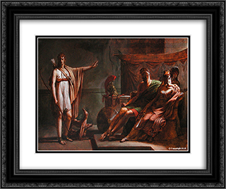 Phaedra and Hippolytus 24x20 Black or Gold Ornate Framed and Double Matted Art Print by Pierre Narcisse Guerin
