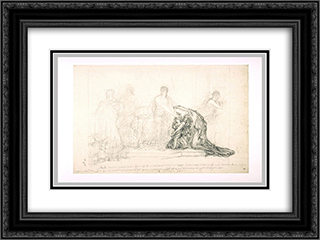 Pyrrhus and Andromache 24x18 Black or Gold Ornate Framed and Double Matted Art Print by Pierre Narcisse Guerin