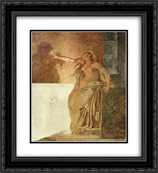 Sorrow 20x22 Black or Gold Ornate Framed and Double Matted Art Print by Pierre Narcisse Guerin