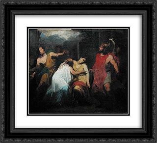 Study for the Death of Lucretia 22x20 Black or Gold Ornate Framed and Double Matted Art Print by Pierre Narcisse Guerin