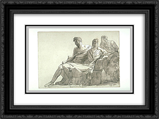 Study for the painting Phaedra and Hippolytus 24x18 Black or Gold Ornate Framed and Double Matted Art Print by Pierre Narcisse Guerin