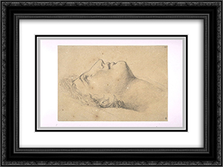 Study of the head of Andromache 24x18 Black or Gold Ornate Framed and Double Matted Art Print by Pierre Narcisse Guerin
