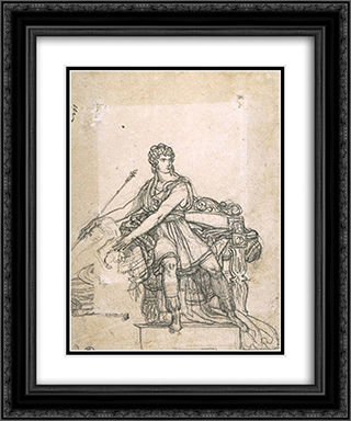 Study the figure of Pyrrhus 20x24 Black or Gold Ornate Framed and Double Matted Art Print by Pierre Narcisse Guerin